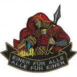 """AUFNÄHER """"EINER FÜR ALLE ALLE FÜR EINEN"""" - Gr. ca. 11 x 10cm (04842)"""