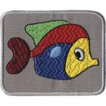 Aufnäher - Fisch - 00927 - Gr. ca. 7 x 5 cm - Patches Stick Applikation