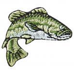 Aufnäher - Fisch - 02104 - Gr. ca. 2 x 5 cm Patches Stick Applikation