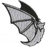 Aufnäher - Fledermaus - 00089 - Gr. ca. 6,5 x 2 cm - Patches Stick Applikation