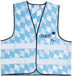 Warnweste mit Vorder- und Rückenprint - O´zapft is - 10318 hellblau-weiß