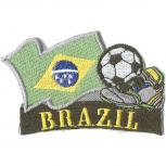 AUFNÄHER - Fußball - Brasilien - 77906 - Gr. ca. 8 x 5 cm - Patches Stick Applikation