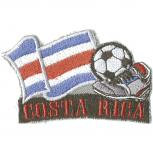 AUFNÄHER - Fußball - Costa Rica - 77910 - Gr. ca. 8 x 5 cm - Patches Stick Applikation