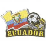 AUFNÄHER - Fußball - Ecuador - 77913 - Gr. ca. 8 x 5 cm - Patches Stick Applikation