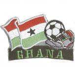 AUFNÄHER - Fußball - Ghana - 77915 - Gr. ca. 8 x 5 cm - Patches Stick Applikation