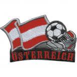 AUFNÄHER - Fußball - Österreich - 77901 - Gr. ca. 8 x 5 cm - Patches Stick Applikation