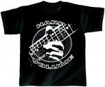 T-Shirt unisex mit Print - Hard Volume - von ROCK YOU MUSIC SHIRTS - 10408 schwarz - Gr. S - XXL