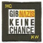 AUFNÄHER - Gegen Rechts - Nazis - 06112 - Gr. ca. 6,5 x 6,5 cm - Patches Stick Applikation