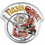 AUFNÄHER - Nazis raus - 06114 - Gr. ca. 8 cm Durchmesser - Patches Stick Applikation