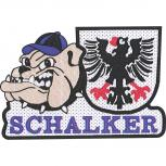AUFNÄHER - Schalker - 00552 - Gr. ca. 9 x 6,5 cm - Patches Stick Applikation