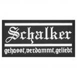 AUFNÄHER - Schalker gehasst  verdammt geliebt - 00561 - Gr. ca. 13,5 x 6,5 cm - Patches Stick Applikation