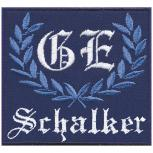 AUFNÄHER - GE - Schalker - 03214 - Gr. ca. 8 x 8 cm - Patches Stick Applikation