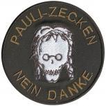 AUFNÄHER - Pauli Zecken Nein Danke - 06140 - Gr. ca. 8 cm - Patches Stick Applikation