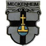 """AUFNÄHER """"MECKENHEIM"""" - NEU Gr. ca. 8cm x 9,5cm (02917) Region Landeswappen Städtewappen - Patches Applikation Stick"""