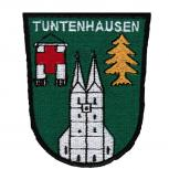 AUFNÄHER - Wappen - Tuntenhausen - 02919 - Gr. ca. 7,5 x 9 cm - Patches Stick Applikation