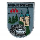 AUFNÄHER - Wappen - DONAUESCHINGEN - 02923 - Gr. ca. 7,5 x 9,5 cm - Patches Stick Applikation