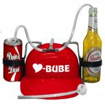 Trinkhelm Spaßhelm mit Printmotiv - Herz Bube - 51614 - versch. Farben zur Wahl