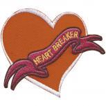 Aufnäher - Heart Breaker - 01981 - Gr. ca. 10 x 8 cm - Patches Stick Applikation