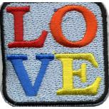 AUFNÄHER - LOVE - 02384 - Gr. ca. 5 x 5 cm - Patches Stick Applikation
