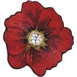 AUFNÄHER - Blume Blüte Mohnblume - 04632 - Gr. ca. 9cm x 8cm - Stick Patches Applikation