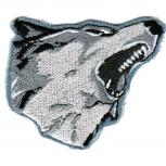 Aufnäher - Husky Kopf - 02961 - Gr. ca. 6 x 5,5 cm - Patches Stick Applikation