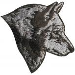 Aufnäher - Husky Kopf - 03145 - Gr. ca. 5,5 x 5,5 cm - Patches Stick Applikation