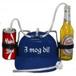 """Schutzhelm/ Spass Trinkhelm in blau """"I mog Di"""" aus Kunststoff größenverstellbar  51616"""