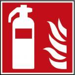 Hinweis- Schild - Brandschutzkennzeichen - Feuerlöscher - BGV A8, DIN 4844 und Arbeitsstättenverordnung 200 x 200 mm - K1581/92