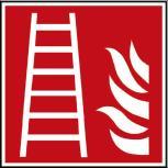 Hinweis- Schild - Brandschutzkennzeichen - Feuerleiter - BGV A8, DIN 4844 und Arbeitsstättenverordnung 200 x 200 mm - K1583/92