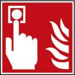 Hinweis- Schild - Brandschutzkennzeichen - Brandmelder - BGV A8, DIN 4844 und Arbeitsstättenverordnung 200 x 200 mm - K1585/92
