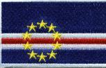 Aufnäher - Kapverde Fahne - 21609 - Gr. ca. 8 x 5 cm