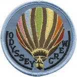 """AUFNÄHER """"Ballonfahrt Odyssey Crew"""" NEU (04986) Gr. 7,5cm - Stick Patches Applikation Motivstick - Ballonfahrt Luftfahrt"""