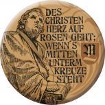 Anstecknadel Button Ansteckbutton mit Motivdruck - Des Christen Herz auf Rosen geht wenn´s mitten unterm Kreuze steht -  06338