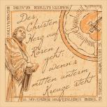 Halstuch, Tuch mit Martin Luther Motivdruck - 56177 beige - Gr. ca. 50x50cm