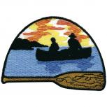 Aufnäher - Paddelboot - 00334 - Gr. ca. 8 x 6 cm - Patches Stick Applikation