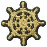 Aufnäher - Steuerrad gold - Gr. ca. 3 cm - Patches Stick Applikation