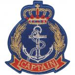 Aufnäher - CAPTAIN Anker - 04538 - Gr. ca. 7,5 x 8 cm - Patches Stick Applikation