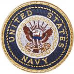 Aufnäher - NAVY - 04611 - Gr. ca. 7,5 cm - Patches Stick Applikation