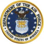 Aufnäher - Department of the Air Force - 04613- Gr. ca. 8 cm - Patches Stick Applikation