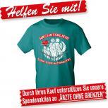 T-Shirt mit Print - NÄCHSTENLIEBE kennt keine Nationalität - 09310 - Gr. S-2XL