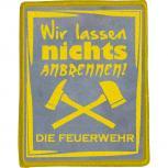 Aufnäher - Feuerwehr - 04848 - Gr. ca.  6,5 x 8,5 cm -  Applikation edles Stick-Emblem