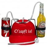 """Schutzhelm/Spass Trinkhelm in 3 Farben """"o´zapft is"""" aus Kunststoff größenverstellbar  51661"""