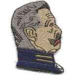 """AUFNÄHER """"Bismarck"""" NEU Gr. ca. 6cm x 4,5cm (02178) Patches Stick Applikation Persönlichkeit"""