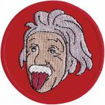 Aufnäher - Einstein - 04518 - Gr. ca. Ø 8 cm - Patches Stick Applikation