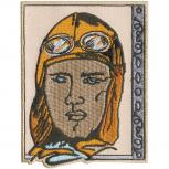 Aufnäher - Amelia Earhart - 04980 - Gr. ca. 7 x 9 cm - Patches Stick Applikation