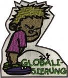 Aufnäher Pinkelmännchen - Globalisierung - 06167 - Gr. ca. 8cm x 11cm