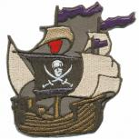 Aufnäher - Piratenschiff - 03029 - Gr. ca. 9 x 9 cm - Patches Stick Applikation