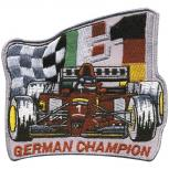 AUFNÄHER - German Champion - 04830 - Gr. ca. 7,5 x 8 cm - Patches Stick Applikation
