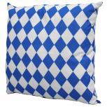 Deko Kissen mit großer blau-weißer Raute 40 x 40 cm   11784