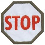 Aufnäher - Stop-Schild - 00906 - Gr. ca. 8 cm - Patches Stick Applikation